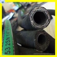 Tuyau en caoutchouc synthétique de tuyau de fil d'acier à haute résistance 1/4 pouce