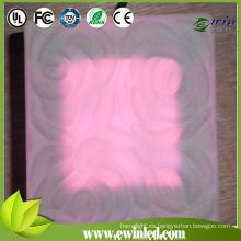RGB Color intercambiable estante de vidrio LED Ladrillo