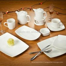 SET de vaisselle porcelaine FINE de SHENZHEN, ensemble de dîner en céramique, plaque plat
