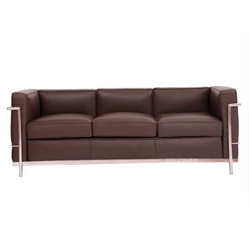 Le Corbusier LC2 sofa 3 seater leather