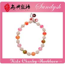 Colar frisado robusto colorido para bebês jóias jóias menina pequena