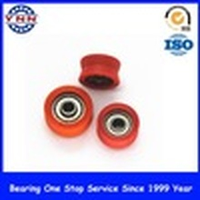 V Groove Plastic Coated Deep Groove Ball Bearings (OD 19 mm)