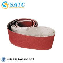 La Chine a expérimenté le producteur abrasif 120 ceintures de ponçage abrasives pour la machine de polissage en métal
