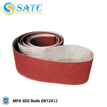 China experienced producer grit 120 abrasive sanding belts for metal polishing machine