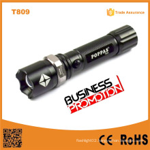 Promotion T809 Zoomable Bright LED Torch Rechargeable Aluminium LED 1101 Police Security Flashlight