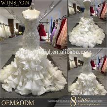 De alta calidad vestido de novia en corte de sirena