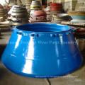 Concasseur à cône pièces d'usure manteau concave bol doublure