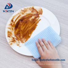 Pano descartável do prato da cozinha não tecida da amostra grátis para o uso diário do restaurante