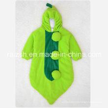 Sac de couchage de pois de dessin animé trois vêtements pour bébés