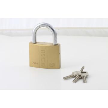 3 aço atom chaves linha dupla fechaduras forma cadeado laminado