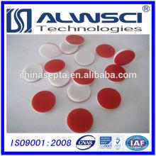 Septa de silicone de PTFE vermelho de 13-425 para HPLC