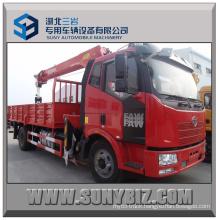 8t Crane Load 160HP Faw J6 4X2 Truck Mounted Crane