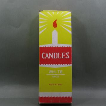 38g taobao White Candle for Diwali Diya Design