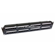 "48 port/way CAT5E/CAT6/CAT6A patch panel -2U 19"" rack mount ethernet network"
