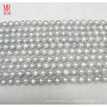 9-10mm graue Frischwasserperlen-Strang-Halskette (ES186)