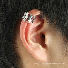 Pendientes del pun ¢ o del oído de la flor venden al por mayor con el color EC125 de la plata del oro