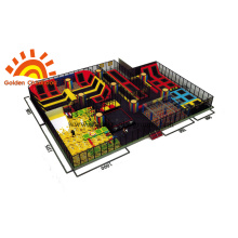 Colourful Trampoline Park  For Children