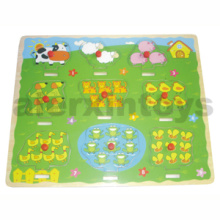 Wooden Puzzle Numbers with Farm Animals (80897)