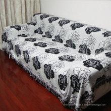 Panos de cobertura de sofá série preto e branco clássico