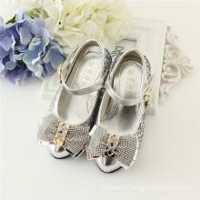 blingbling enfants parti chaussures sliver et or chaussures à talons hauts pour fille