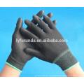 Anti-statische schwarze PU-beschichtete Nylon-Handschuhe aus Porzellan