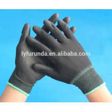 anti static black PU coated nylon gloves made in china