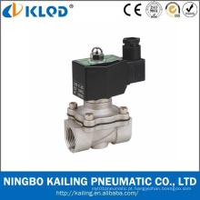 """2wb-25 3/8 """"de aço inoxidável de ação direta válvula de água solenóide"""
