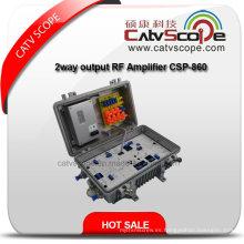 Amplificador óptico de la línea del CATV con la salida 220V de 2 maneras