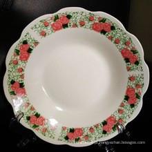 Placa da porcelana de 8 polegadas, placa de jantar chinesa, placa da sopa