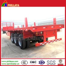 Tri-Axle 20-40FT Holz-Protokollierungs-Post-Flachbett-Protokoll-halb Anhänger