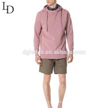 atacado design personalizado de algodão homens de manga longa com capuz camisola