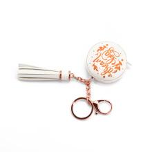 Schlüsselanhänger PU-Leder-Maßband mit Quaste