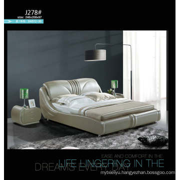 Kd Furniture, Bedroom Furniture, Modern Leather Bed (J037)