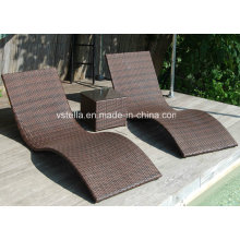 Outdoor Patio Garden Wicker Rattan Sunbed