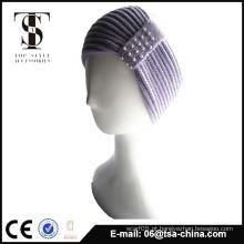 100% acrílico tricotado com faixa de cabeça de pérola