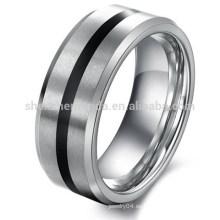 La joyería al por mayor de los hombres personalizada de la venda del anillo de compromiso del tungsteno nunca se descolora