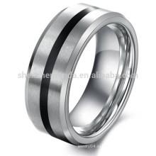 Оптовая Персонализированные Мужские ювелирные изделия вольфрама Обручальное кольцо никогда не выцветают