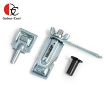 Unidade de manopla ajustável do quadrante do amortecedor do duto de ar galvanizado