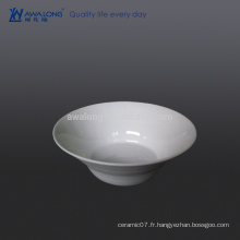 Bol en céramique blanc pur de 600 ml, bol pour soupe