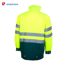 Salut vis 3m réfléchissant veste de sécurité imperméable manteau d'hiver