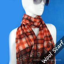 Écharpe en laine Grid pour Lady