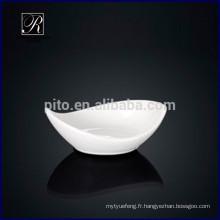 Porcelaine P & T, plat de soucoupes de soja, plat de wasabi, plat à beurre pour usage d'hôtel