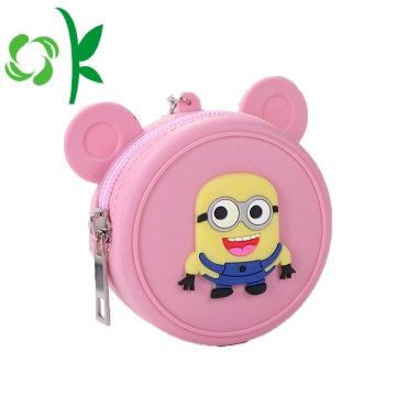 Mini Silicone Large Capacity Coin Purse med dragkedja
