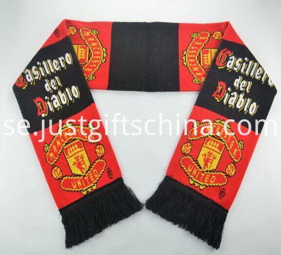 Promotional Double Jacquard Fabric Knitted Scarf2