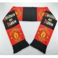 Рекламные двойной жаккардовые ткани трикотажные шарф