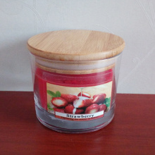 Clear Glass Cup Colorful Scented Candle For Favor
