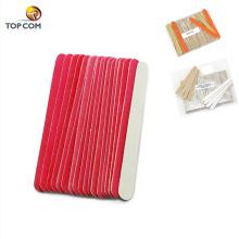 Nail Files Buffers 100 180 grit Manicure Pedicure Buffer Sanding Files Wood Crescent Sandpaper Grit Nail