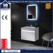 Cabinet de meuble de salle de bain blanc à LED murale moderne avec miroir LED