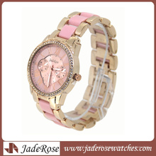 New and Hot Pink Band and Dial Brand Lady Watch
