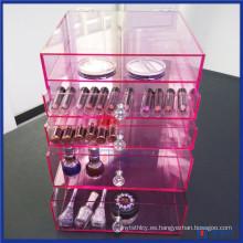 Pink Glam Vanity Acrylic Caja Lux